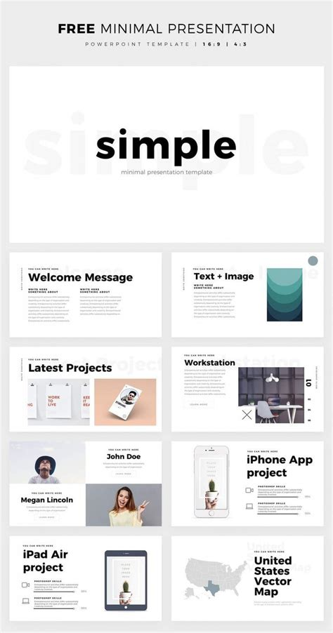 simple  clean powerpoint template   theme
