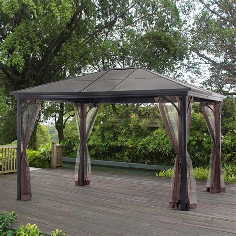 Gazebo Roofs Grand Resort Sunland Park 12x10 Steel Roof Gazebo With