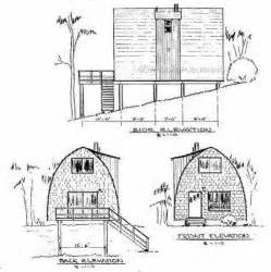 building plans for cabins arch rafter house cabin plans blueprints modified a frame