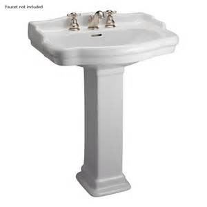 shop barclay stanford 35 75 in h white vitreous china pedestal sink at lowes com