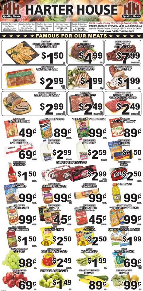 harter house ad 232 best grocery ads images on grocery ads