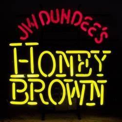 Honey Brown Neon Beer Bar Sign Light