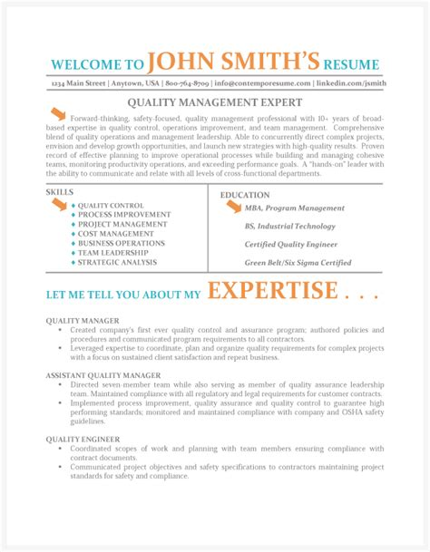Management Qualities For Resume by Quality Manager Resume