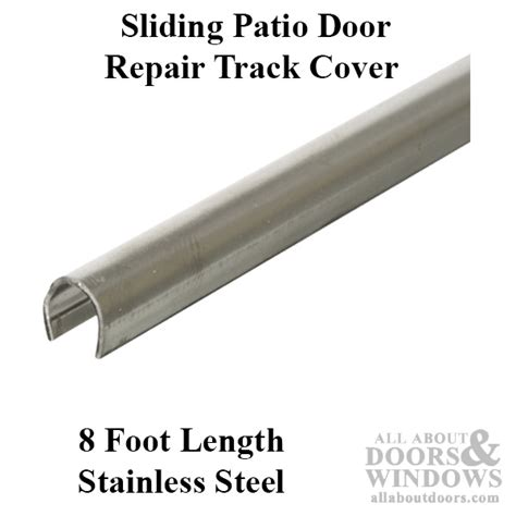 track cover patio sliding glass door 96 inch