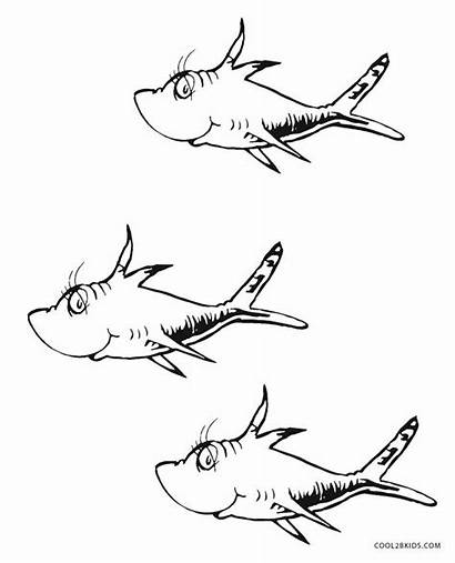 Seuss Dr Coloring Printable Pages Fish Activities