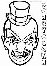 Clown Scary Coloring Pages Colorings Coloringway sketch template