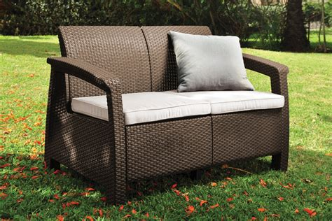 Love Seat All Weather Outdoor Patio Garden Furniture Chair