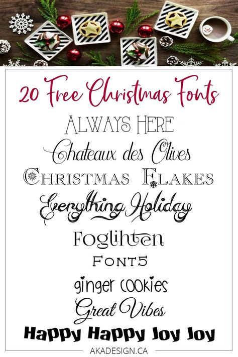 favorite  christmas fonts perfect  printables