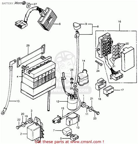Wire Diagram 1975 Kz400 by Honda Cb400f Sport 400 Four K0 1975 Usa Battery