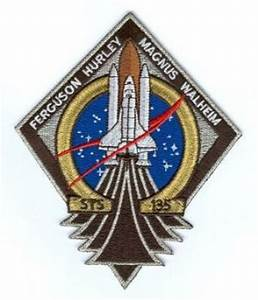 NASA STS-135 Atlantis Embroidered Mission Patch - Final ...