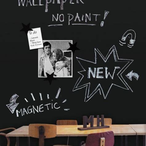 papier peint cuisine original groovy magnets papier peint magnétique tableau noir
