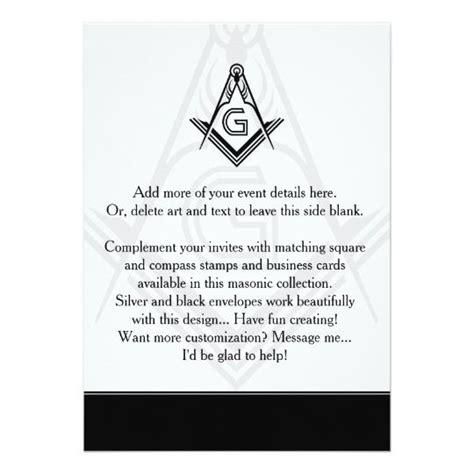 Masonic Invitations Freemason Tuxedo Jewel Zazzle com