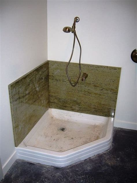 corner mop sink garage pinterest shower pan dog