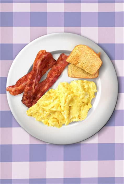 ron swansons bacon  eggs breakfast poster daves