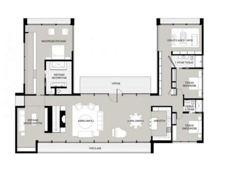 U Shaped Home Designs : Fantastic U Shaped House Plans With Courtyard Hd L Tikspor