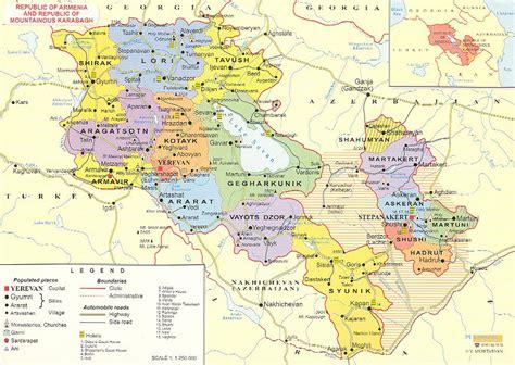 detailed administrative map  armenia armenia detailed