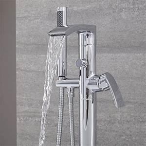 Handbrause Für Waschbecken : standarmatur f r badewannen mit handbrause und wasserfallauslauf razor ~ Eleganceandgraceweddings.com Haus und Dekorationen