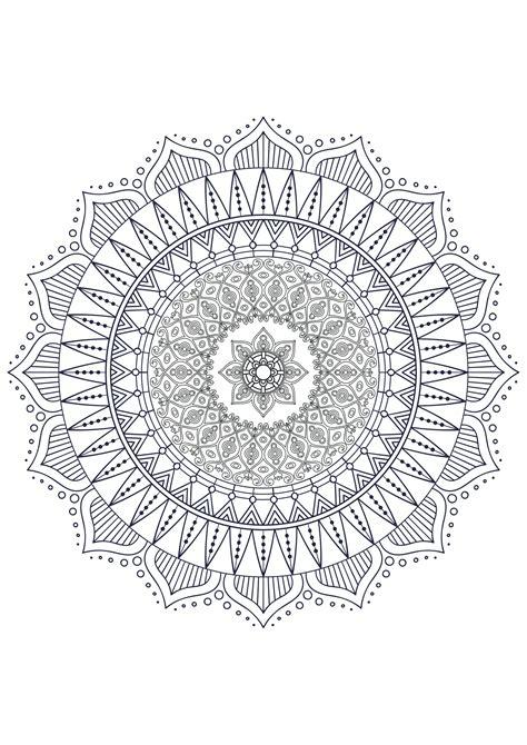 mandala zen antistress  mandalas adult coloring pages
