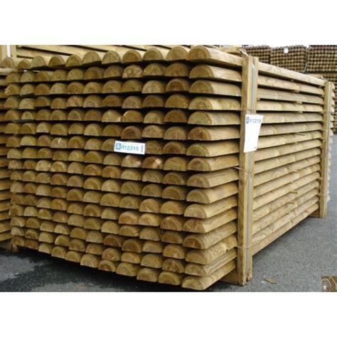 demi rondin bois frais 233 pin autoclave classe 4 d 100mm 3m sud bois bois discount