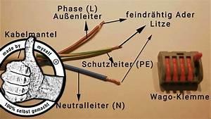 Mehrere Kabel Mit Einem Verbinden : lampe anschlie en mehrere lampen mit einem kabel anschluss verbinden wago klemme youtube ~ Orissabook.com Haus und Dekorationen