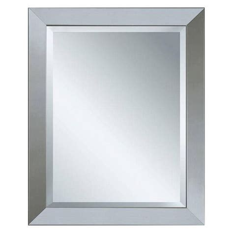 Bathroom Wall Mirrors Brushed Nickel by Deco Mirror 44 In X 34 In Modern Wall Mirror In Brushed