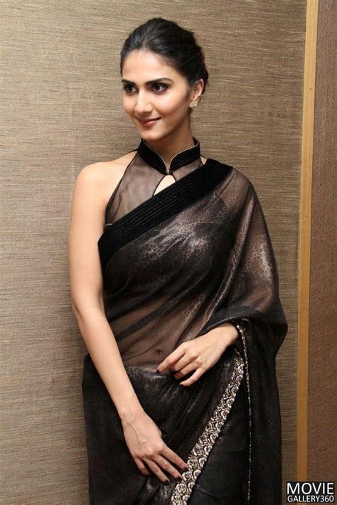 black saree blouse vaani kapoor in black saree sari blouse indian