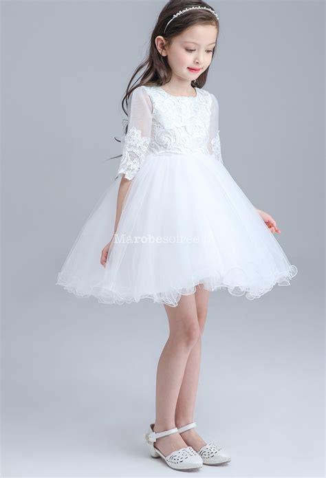 robe blanche enfant robe enfant blanche manches longues