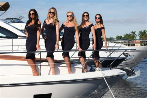 Girls On Boats by Boat Show Hostesses Southton Cannes London Monaco