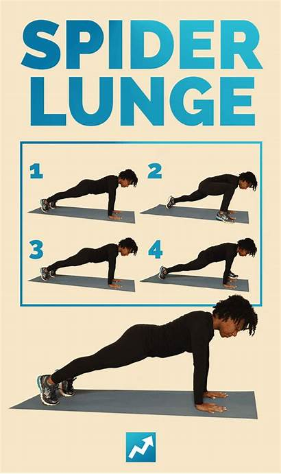 Spider Lunge Lunges Fitness Plan Health Exercises
