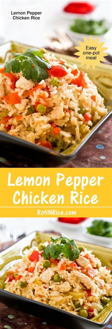 quick easy  pot lemon pepper chicken rice