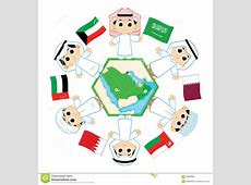Gulf Cooperation Council Stock Vector Image 65083588