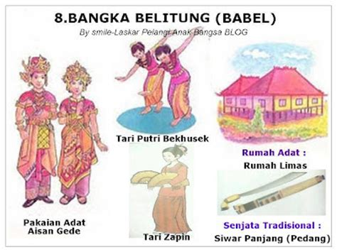 provinsi  indonesia lengkap  pakaian tarian