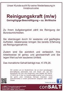 Teilzeitgehalt Berechnen : reinigungskraft m w in innsbruck gesucht bewirb dich ~ Themetempest.com Abrechnung