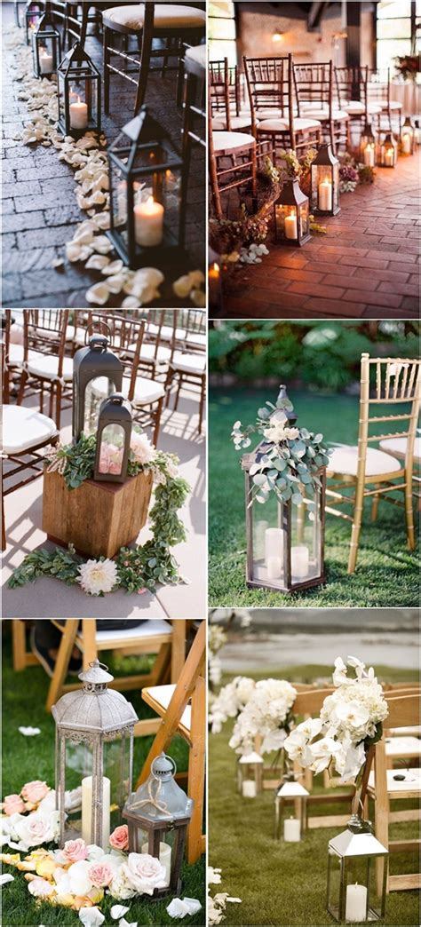 27 Creative Lanterns Wedding Aisle Decor Ideas Deer