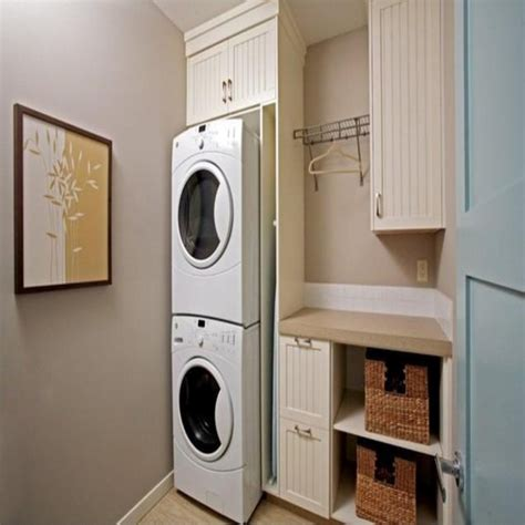 washer dryer room ideas stacked laundry room closet ideas