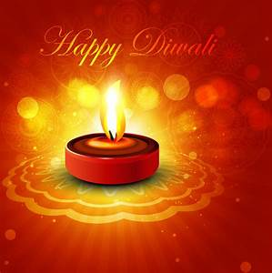Beautiful shiny happy diwali diya colorful rangoli hindu ...