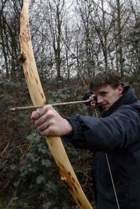 Yew flatbow, mostly sapwood in Archery - Primitive Bows