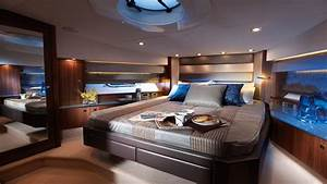 Bed Room Wall Paper Luxury Yacht Bedroom Interiors