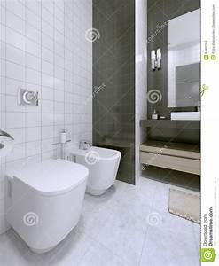 Salle De Bain Noire Et Blanche : id e noire et blanche de salle de bains photo stock ~ Melissatoandfro.com Idées de Décoration