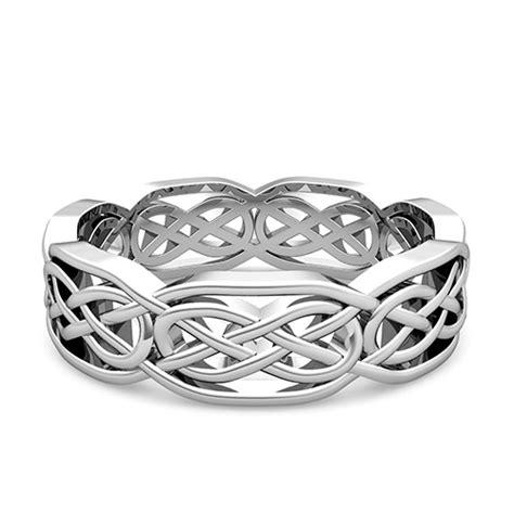 custom celtic wedding band  men  women  gold