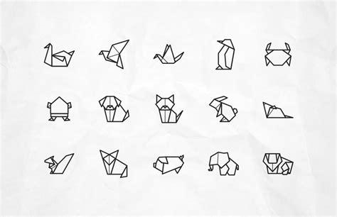 origami animal  vector icons pixlov