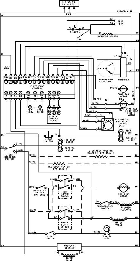 kenmore refrigerator compressor wiring schematic schematic wiring diagram of a refrigerator wiring