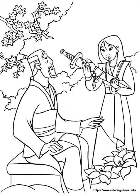 mulan coloring picture   father coloring sheets