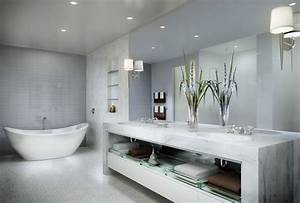 Grey Bathrooms Decorating Ideas White Free Standing