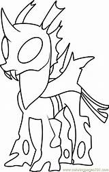 Coloring Thorax Mature Pages Pony Friendship Magic Pdf Cartoon Coloringpages101 Pokemon Printable Getdrawings Resolution sketch template