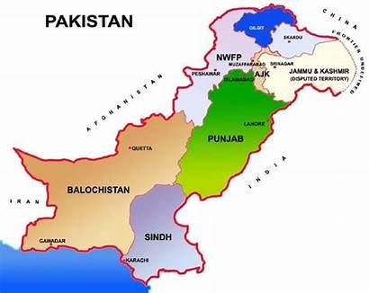 Pakistan Map India Pok Kashmir Showing Indian