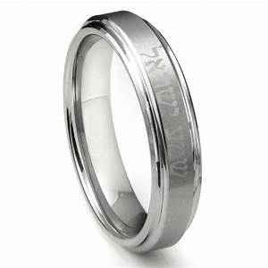 tungsten carbide laser engraved hebrew wedding band ring With hebrew wedding rings