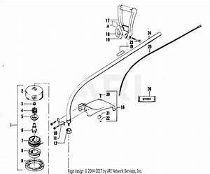 Poulan 1740 Gas Trimmer Parts Diagram For Cutting Head