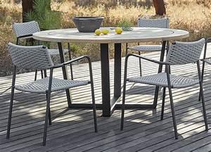 Manutti, Fuse, Round, Garden, Table, -, Contemporary, Garden, Furniture