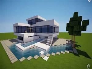 Modern Mansion Minecraft — MODERN HOUSE PLAN